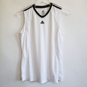Women's Adidas white sleeveless shirt size S